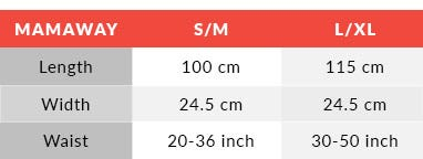 Belly Band Size Chart